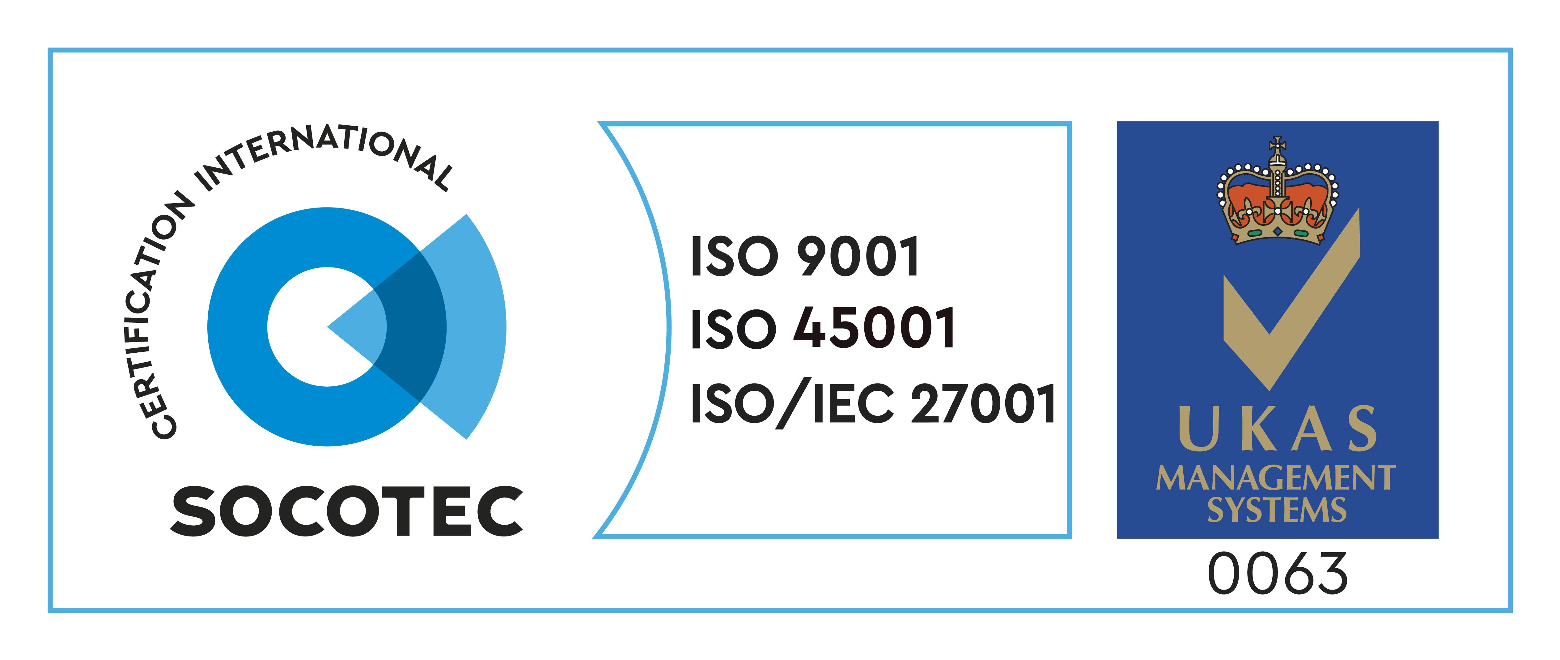 9001+27001+45001 SOC カラー UKAS カラー